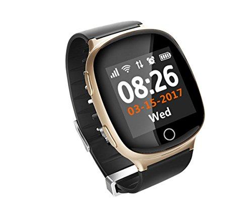 ORIGINAL FAIRTEK Pro-Mobile F66 GPS Notrufuhr, Notruf-Uhr, GPS,A-GPS,WiFi-Ortung, 2-Wege Telefongespräche,Ortungs-Portal inbegriffen (GOLD)