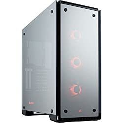 Corsair Crystal 570X Case da Gaming, Mid-Tower ATX, Finestra Laterale Vetro Temperato e Ventole, RGB LED, Mirrored