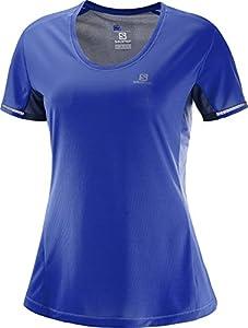 que es un diseñador web: Salomon Agile Camiseta de Manga Corta, Mujer, (Surf The Web/Medieval Azul), XL