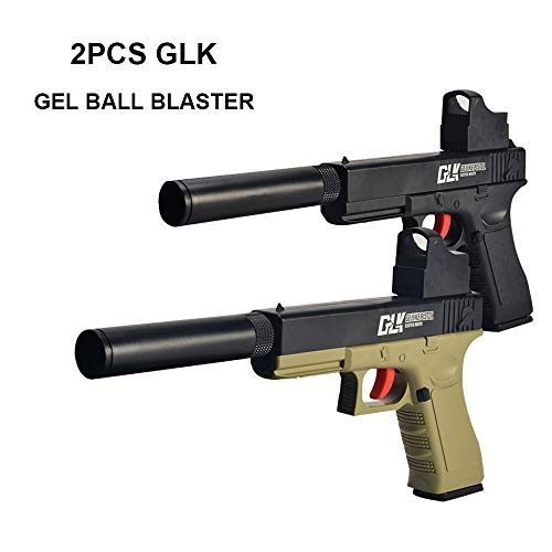 GELRIZTY 2 in 1 GLK Gel Ball Blaster - Manual Gel Ball & Foam Blaster -  Safe and Harmless Toy Pistol - Cool Emulation Shape