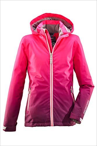 Killtec Mädchen Grenda Jr Skijacke/Funktionsjacke Mit Kapuze Und Schneefang, 10.000 Mm Wassersäule, Wasserdicht, pink, 128
