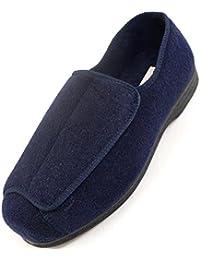 Zapatos ortopédicos para hombre con amplitud EEE, ajustables