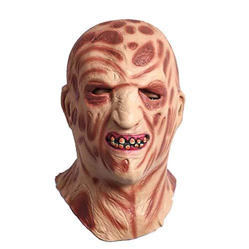 WYJSS Halloween Feuer brennende Gesichtsmaske AAS Kopfbedeckung Horror Schlechtes Gesicht Latex Zombie Gesichtsmaske Maskerade Prom Maske Humorvolle Maske,Clear-OneSize