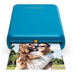 Polaroid Zip - Imprimante Équipée de la Technologie d'Impression sans Encre Zink, 5 X 7,6 cm, Micro USB, Bluetooth, Compatible avec iOS et Android, Bleu