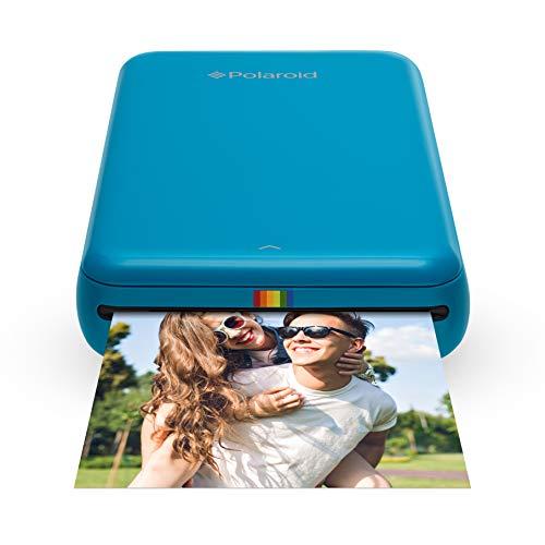Polaroid ZIP Handydrucker mit ZINK Zero tintenfreier Drucktechnologie - Kompatibel mit iOS- & Androidgeräten - Blau (Polaroid-kamera-tinte)