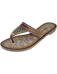 GRENDHA - Sandales SILVESTRE THONG FEM - 81619 - brown
