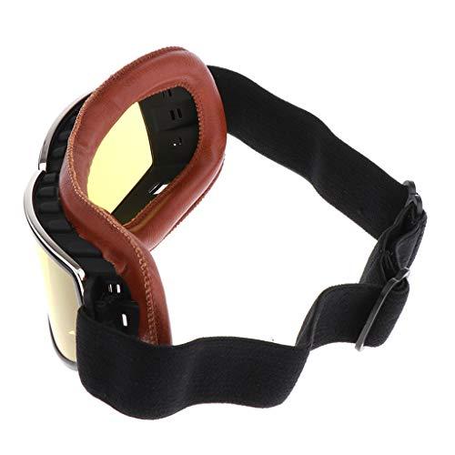 KESOTO Motocross Ski Motorrad Roller Brille Retro Helm Brille Helmbrille für Erwachsene und Jugendliche