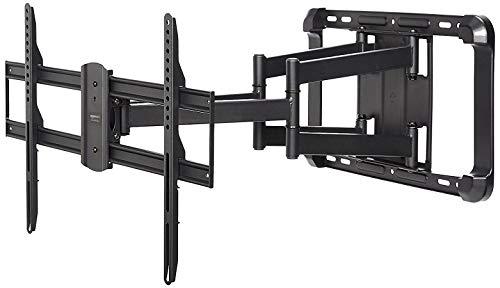 AmazonBasics - TV-Wandhalterung, extra langer Auszug, Doppelarm, voll beweglich - 38-80 Zoll