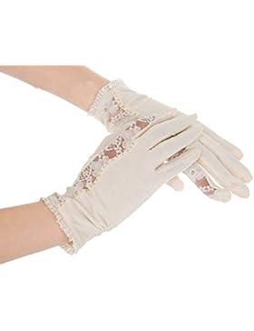 A los rayos UV Kenmont de protección de mujer con capucha diseño de exteriores de fibra de 100% de encaje y guantes...