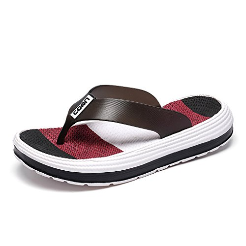 Hishoes Zehentrenner Damen Pantoffeln Weich Badelatschen Sommer Schuhe Strand Flip Flop Sandalen Hausschuhe
