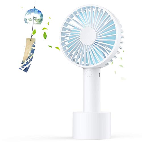 Elechomes Rechargeable Portable Mini Handheld Fan with 2500 mAh Battery 3 speed option for Office Room Outdoor Household Traveling