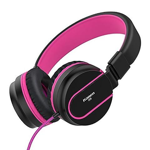 AILIHEN I35 Kopfhörer on Ear mit Mikrofon Stereo Remote Faltbarer Headset Bügelkopfhörer für Handys Tablets Laptops PC