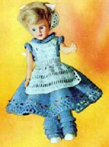 ALICE IN WONDERLAND DOLL - Vintage 1951 Dress Crochet Pattern for Duchess Dolls. (or other 7