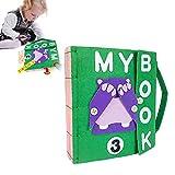 Dough.Q Montessori-Baby Büche Thema Fühlte Sich Ruhig Bücher Babykleidung Buch Frühkindliche Bildung Soft Baby Books Vlies Handgewebte Stoff 3D-Bücher 6 Bücher Zur Auswahl
