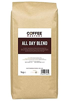 Coffee Masters All Day Blend Espresso Coffee Beans 1kg from Coffee Masters