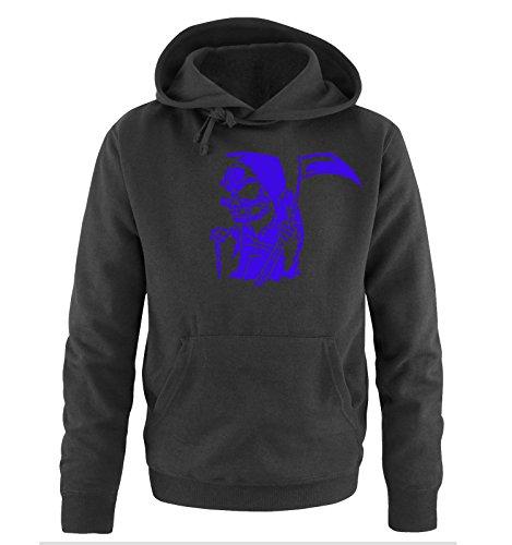 Comedy Shirts - COMIC REAPER - Uomo Hoodie cappuccio sweater - taglia S-XXL different colors nero / azzurro