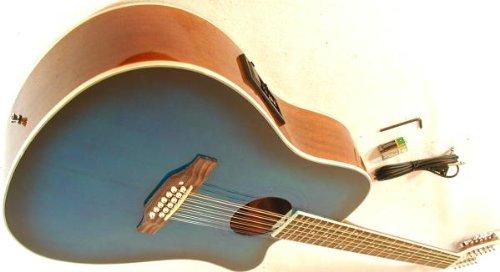 cherrystone 4260180886177–12Corde Western della chitarra con pick-up/EQ blueburst