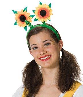 Kostüm Zauberer Für Verkauf - Haarreif Reif Haar Sonnenblume Blume Sonne grün Blumenreif Blumenhaarreif Sonnenblumenhaarreif Sommer