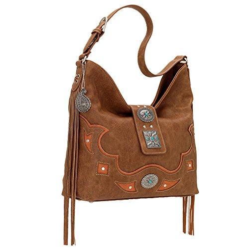 Banadana From American West  Êhobos & Shoulder Bags, Sacs bohème femme Tan Lexington