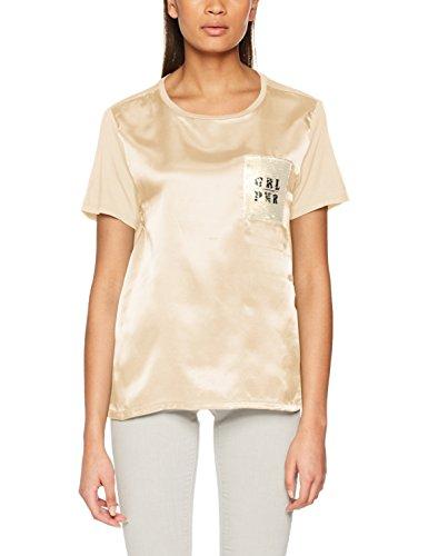 ONLY Damen T-Shirt onlSALLY S/S TOP JRS, Beige (Brazzilian Sand), 34 (Herstellergröße: XS)