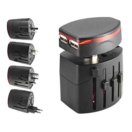 CARWORD International Universal Worldwide Travel Charger Power Adapter Wall Conversion Electric Converter US/AU/UK/EU Plug Dual USB Universal Wall Power Adapter