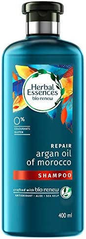 Herbal Essences Argan Oil of Morocco SHAMPOO- For Hair Repair and No Frizz- No Paraben, No Colorants, 400 ML