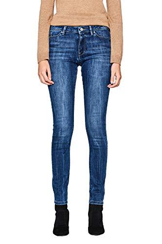 edc by ESPRIT Damen 997CC1B817 Skinny Jeans, Blue Medium Wash 902, W31/L32