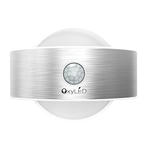 OxyLED Wall Light,Motion Sensor Security Lights,14 LED Night Light,Up and Down Wall Light,Indoor Light for Stair,Kitchen,Bathroom,Hallway,Cupboard,Dressing Table(2 Ways to Power Up/2 Working Light Mode)