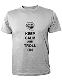 Mister Merchandise Homme Chemise Cool Tee T-Shirt Keep Calm and Troll on