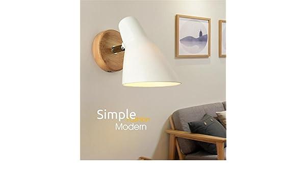 E27 moderna creativo lampada da parete in pvc paralume con pulsante