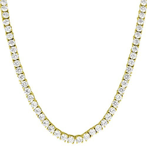 92d12e6bea4f9 Master Of Bling Solitaire Link Collier Or 14 K Finition Lab Diamonds 55,9 cm