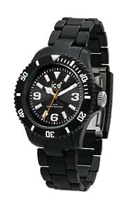 Ice Watch - CL.BK.U.P.09 - Montre Mixte - Quartz Analogique - Cadran Noir - Bracelet Plastique Noir - Moyen Modèle