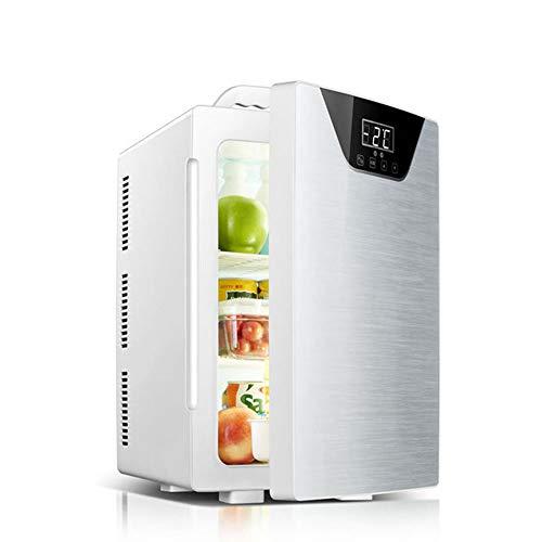 41ah1IxhvlL - JCDZSW Refrigerador de automóvil CNC de Tres núcleos 20L Mini refrigerador pequeño de Doble Uso para el hogar Adecuado para refrigeradores de Alimentos, medicamentos, cosméticos, hogar y Viajes,Plata