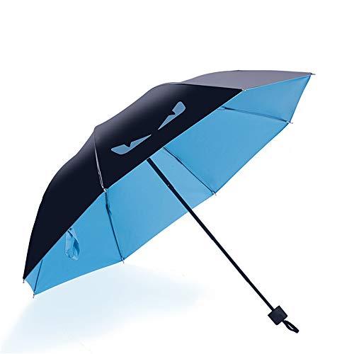 LYJZH Reiseregenschirm - Kompakter windfester Regenschirm - sehr leichtes und faltbares Design Sonnencreme Faltbare Vinyl Teufel Regenschirm Regenschirm colour14 98cm