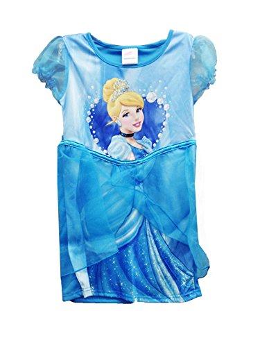 (Disney Mädchen-Partei-Tutu auf Kleid Princess Cinderella in Blau Beleg 5-6 Jahre)