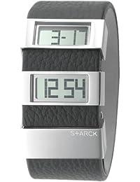 Philippe Starck PH1091 - Reloj , correa de cuero color negro