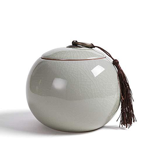 Kreativ Keramikplatten Tee caddy,Feuchtigkeitsbeständig Tee-dose Tee Vorratsgläser Für Gewürze Süßigkeiten Kaffee Cookie Muttern Mit Geschenkbox-C 12x10cm(5x4inch) -