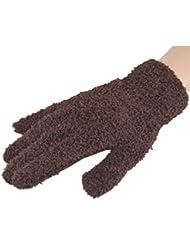Femmes / Filles d'hiver Finger chaud Gants en peluche, 1 paire,brun