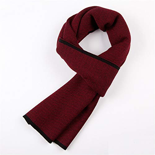 Männer Winter Cashmere Schal warme Schals, Geschenke für Männer (rot)