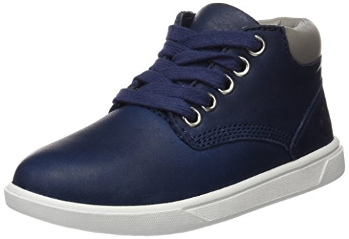 Timberland Unisex Baby Groveton Leather Chukkablack Lauflernschuhe, Blau (Black Iris Escape Full Grain), 27 EU