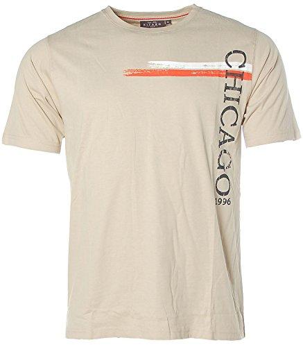 Kitaro Herren Kurzarm Shirt T-Shirt Rundhals Chicago Safari