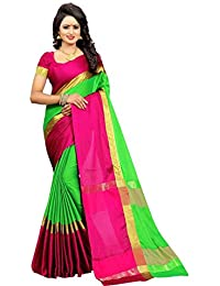 Radiance Star Women's Multi-coloured Saree New Collection Cotton Silk Sarees For Women Party Wear Sarees With...
