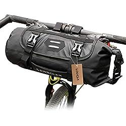 Lixada Bolsa de Manillar para Bicicleta Impermeable Capacidad Ajustable Desmontable Bolsa Delantera para Ciclismo (3-7 L)