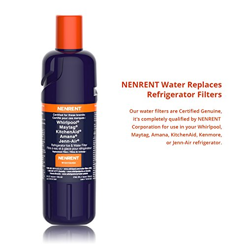 NENRENT Pur Filter 2 Kühlschrank Wasserfilter Ersatz für Whirlpool EDR2RXD1, WRF989SDAB, WRF989SDAE, WRF989SDAF, WRF989SDAH, WRF989SDAM, WRF989SDAW & P6WB2L, P6WB2NL, - Whirlpool Eis-wasser-filter