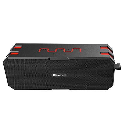 Altavoz Bluetooth Impermeable, Wirezoll 12W Altavoz InalÁMbrico PortÁTil Con Mejora De Graves Avanzada Y 5200mah BaterÍA Incorporada, Soporte Para Tarjeta TF, Color Negro