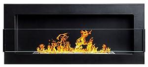 Hochwertiger Bio-Ethanolkamin/Gelkamin in den Maßen 900x400mm (!! TÜV-Rheinland geprüft !!) in der Farbe schwarz matt + Glasscheibe inkl. Halterung. Mit unserem Bioethanolkamin erhalten Sie eine wundervolle Atmosphäre ganz ohne schädliche Rauch-/Ruß-...