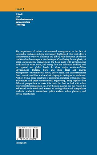 Urban Environmental Management and Technology (cSUR-UT Series: Library for Sustainable Urban Regeneration)