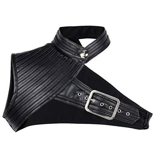 Tigeashost Vintage Black Leather Armor Stahl Korsett und Bolero Hot Shaper Body Gothic Steampunk Korsetts Black1 XXXL