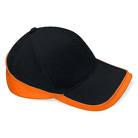 Beechfield - Casquette de Baseball - Homme noir Noir/Orange taille