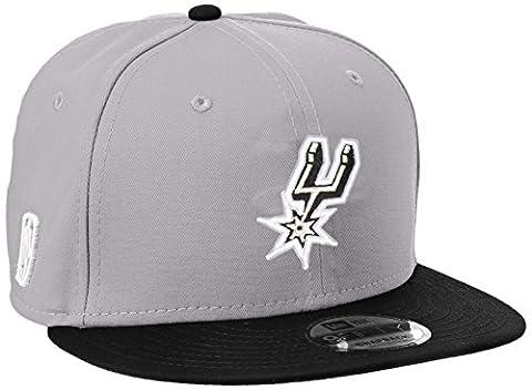 New Era Men's Nba Team 9Fifty San Antonio Spurs Offical Team Colour Baseball Cap, Grey, Medium (Manufacturer